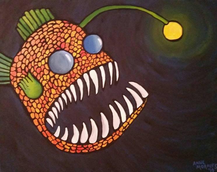 """""""The Angler"""", Acrylic on Canvas"""