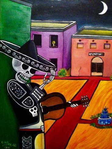 """""""El Mariachi"""", Acrylic on Canvas"""