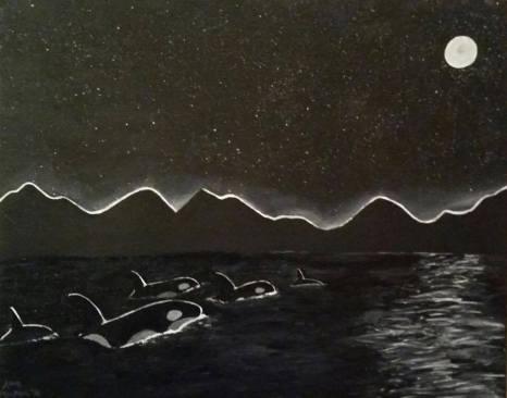 """""""The Orca"""", Acrylic on Canvas"""