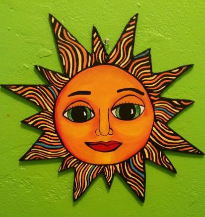 """""""Sun"""", Acrylic on Wood"""