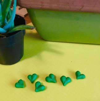 feo blog shamrock green hearts
