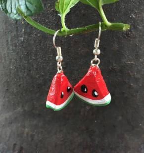 feo inventory watermelon slice earrings