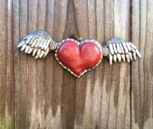 polymer clay winged heart good one up close