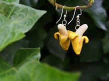 Portfolio Polymer Clay Banana Earrings